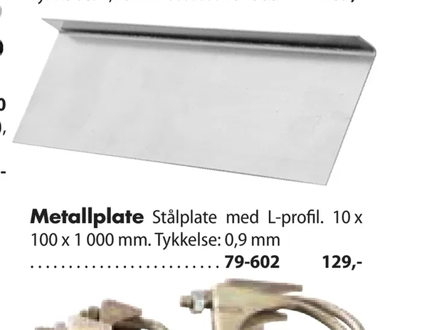 Offer On Metallplate From Biltema At NOK 129