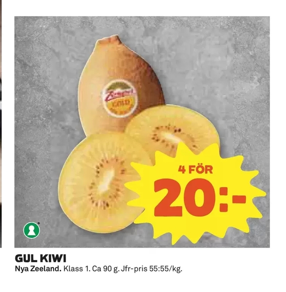 Offer On Gul Kiwi From Coop Extra At SEK 20