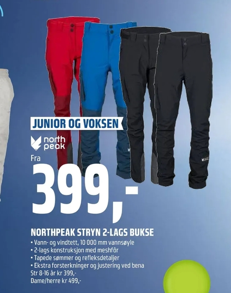 Northpeak stryn 2 lags bukse allematpriser.no