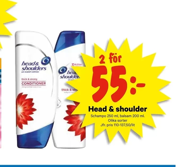 Offer On Head Shoulder From City Gross At SEK 55