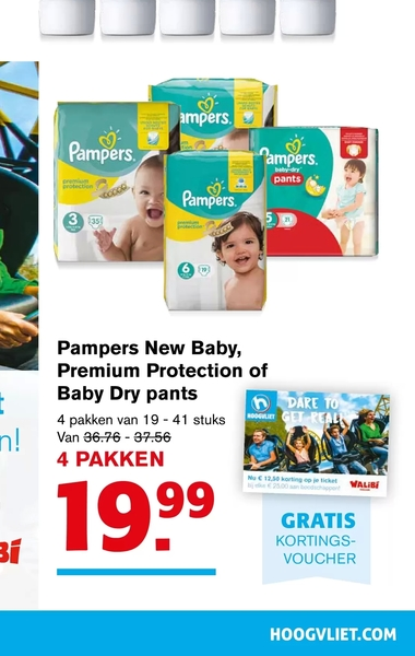 Tilbud På Pampers New Baby Premium Protection Of Baby Dry Pants Fra