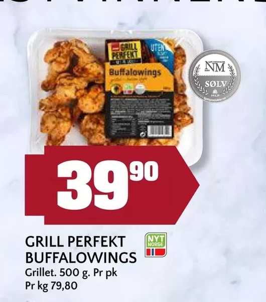 Offer On Grill Perfekt Buffalowings From Coop Mega At NOK 399